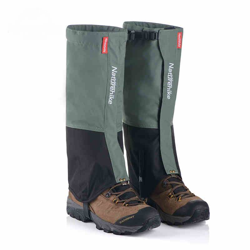 Professional Man Waterproof  Nylon Fabric Gaiters Woman Hiking Walking Climbing Skiing Trekking Thin Ultra Light Gaiter L M 165g