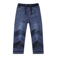 Teen Boys Jeans Pants Fashion Cotton Long Trousers Denim Casual Children Clothes Spring Autumn Clothing 9 10 11 12 13 14 Years цена
