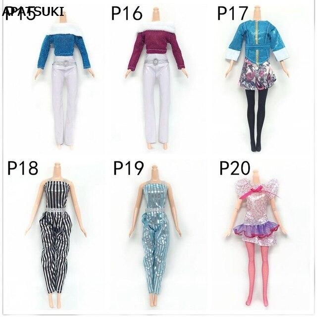 fbaedc46d537 € 6.77 32% de DESCUENTO 6 Conjuntos de ropa de moda para muñeca Barbie casa  blusa y pantalones conjunto de ropa Casual para 1/6 accesorios de ...