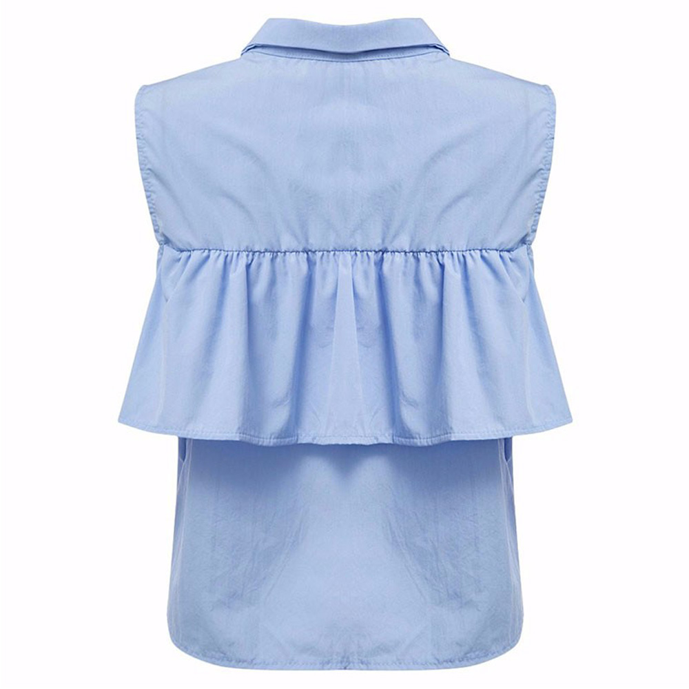 VESTLINDA Summer Women Off the Shoulder Ruffles Blouse Shirts Turn Down Collar Casual Sexy Tops Chemise Femme Work Office Blusas 14