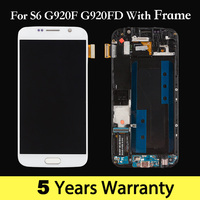 100% New Screen For Samsung S6 G920 G920F Tft Lcd For Samsung Galaxy S6 Edge Display Touch Screen Pantalla s6 for samsung Black