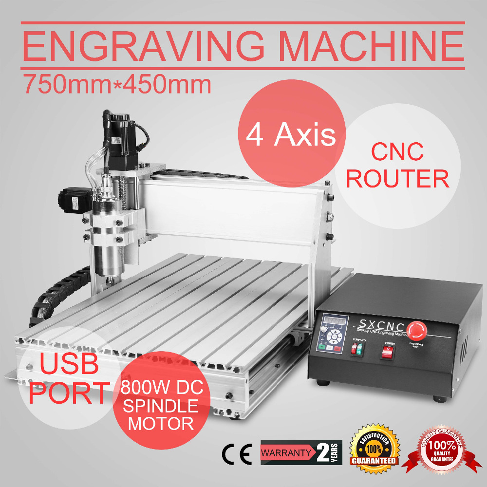 4 AXIS CNC ROUTER 6040T USB ENGRAVER ENGRAVING CUTTER ARTWORK DESKTOP BALL SCREW
