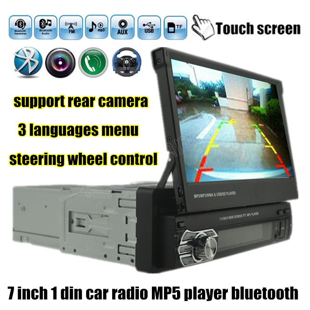 7 inch 1 din car mp5 mp4 player radio stereo hd bluetooth. Black Bedroom Furniture Sets. Home Design Ideas
