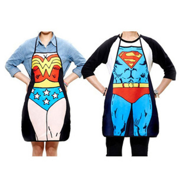 Kitchen Apron Classic Superwoman Pattern Creative Washable Funny Cooking Supplies Active Components