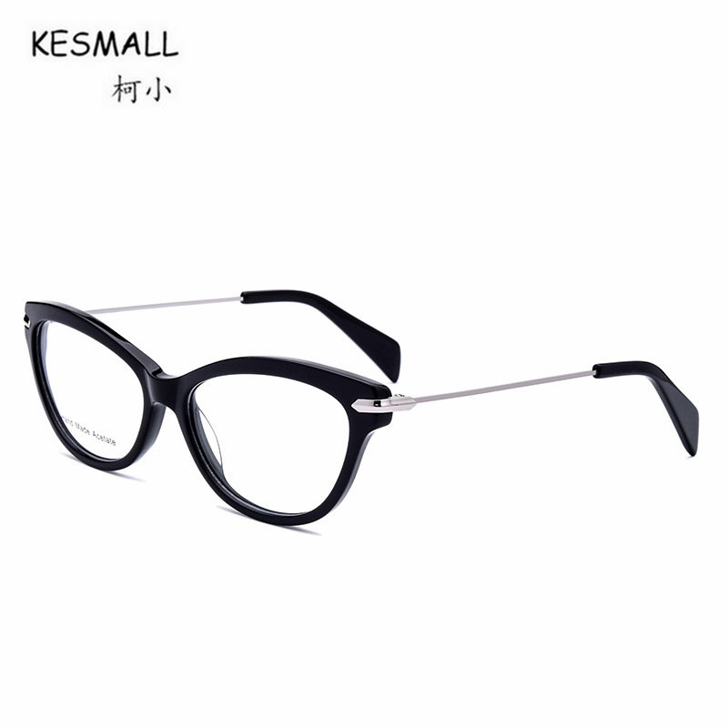KESMALL 2018 New Vintage Cat Eyeglasses Frame Men Women Fashion Myopia Glasses Frames Clear Lens Eyewear Gafas De Lectura XN190 new hot fashion unisex women men hipster vintage retro classic half frame glasses clear lens nerd eyewear 4 colors