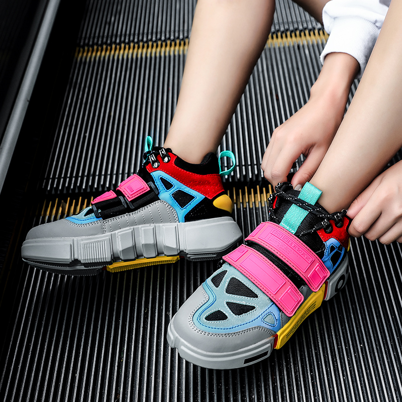 New AURONET Platform Women Sneakers High Quality Thick Bottom Casual Chunky Shoes Zapatillas Mujer Womens Trainers Basket Femme