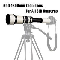 Monocular Telescope With Adapter Ring For SLR Camera Telephoto Manual Zoom Lens for long range shooting 650 1300mm F8.0 F16