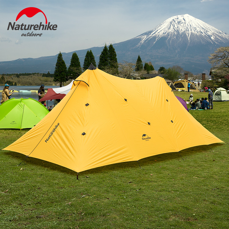 Naturehike Single Layer 20D Silicone Nylon Fabric 5 8 Persons Large Party Tents Gazebo For Outdoor
