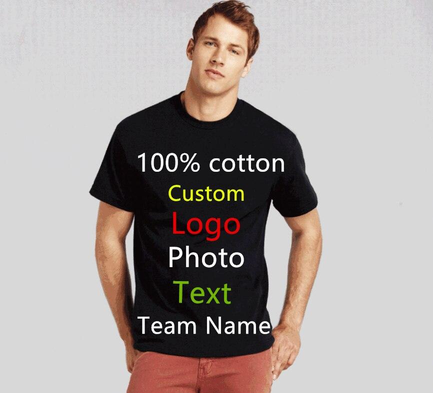 19 Kleuren Oversized Mannen Custom Uniform Bedrijf Team T-shirt Foto Logo Tekst Gedrukt T-shirt Punk Hip Hop Heren Tees top Tshirt