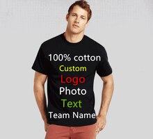 19 colors Oversized Men Custom Uniform Company Team T-shirt Photo Logo Text Printed T shirt Punk Hip Hop Mens Tees Top tshirt