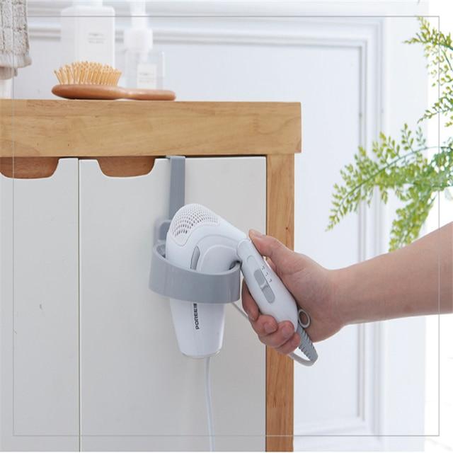 Bon 1PC Creative Bathroom Cabinet Door Back Hair Dryer Rack Punch Free Storage  Rack Bathroom Hair