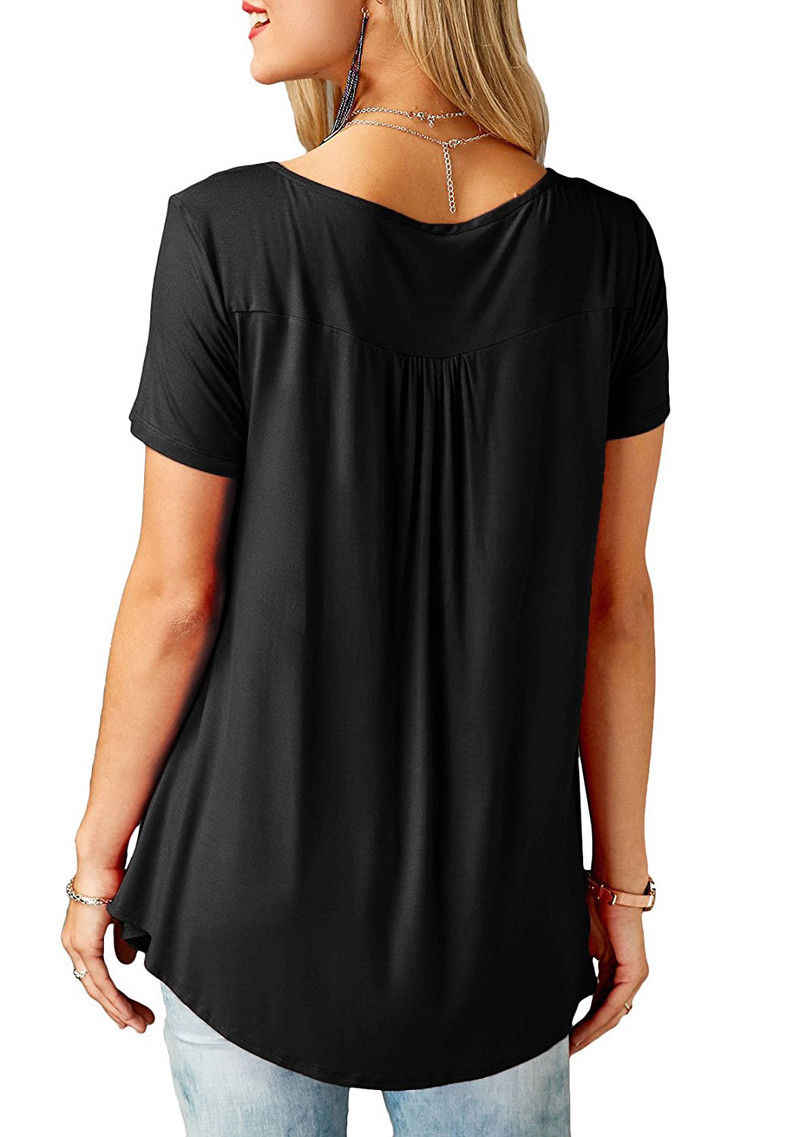 Casual 2018 Zomer Vrouwen Losse T-Shirt Korte Mouw Tops Dames Solid Tee Plus Size S-5XL