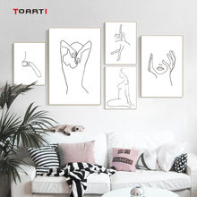 Women Body Line Drawing Abstract Canvas Painting Poster And Prints Modular Wall Picture Home Decor Minimalist Wall Art Murals(China)