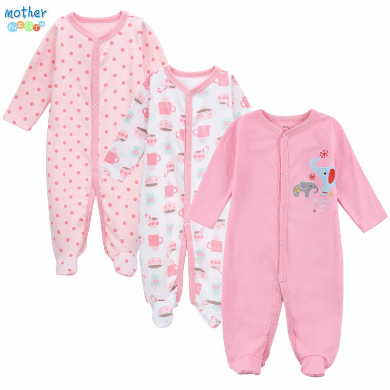 Mother Nest Brand New Baby infant Rompers spring autumn Newborn girl Clothing Fashion pink style toddler Pajamas costume Clothes mother nest newly 2016 long sleeve baby clothing baby boy girl wear pink polka dot newborn baby overall clothes baby rompers