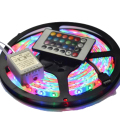 5M 3528 LED Strip Waterproof 60 LEDs/M DC 12V 15W RGB Strip + 24 Key Controller + RGB Control Box
