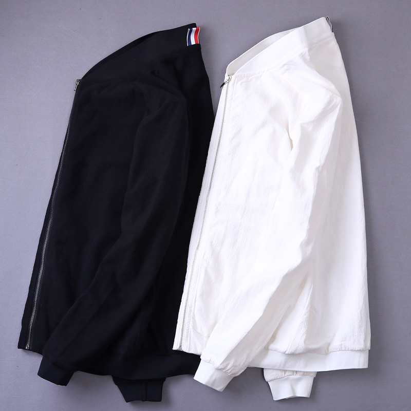Italy Style Simple Fashion Long-Sleeved Linen Men Jacket Black Spring Autumn Clothing Casual Brand Jacket Men Giacca Chaqueta