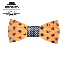 Rewood The Gifts For New Year Fashion Wedding Decoration Trump Bow Tie With Print Wooden Bow Ties For Men Butterfly Tie Gravata
