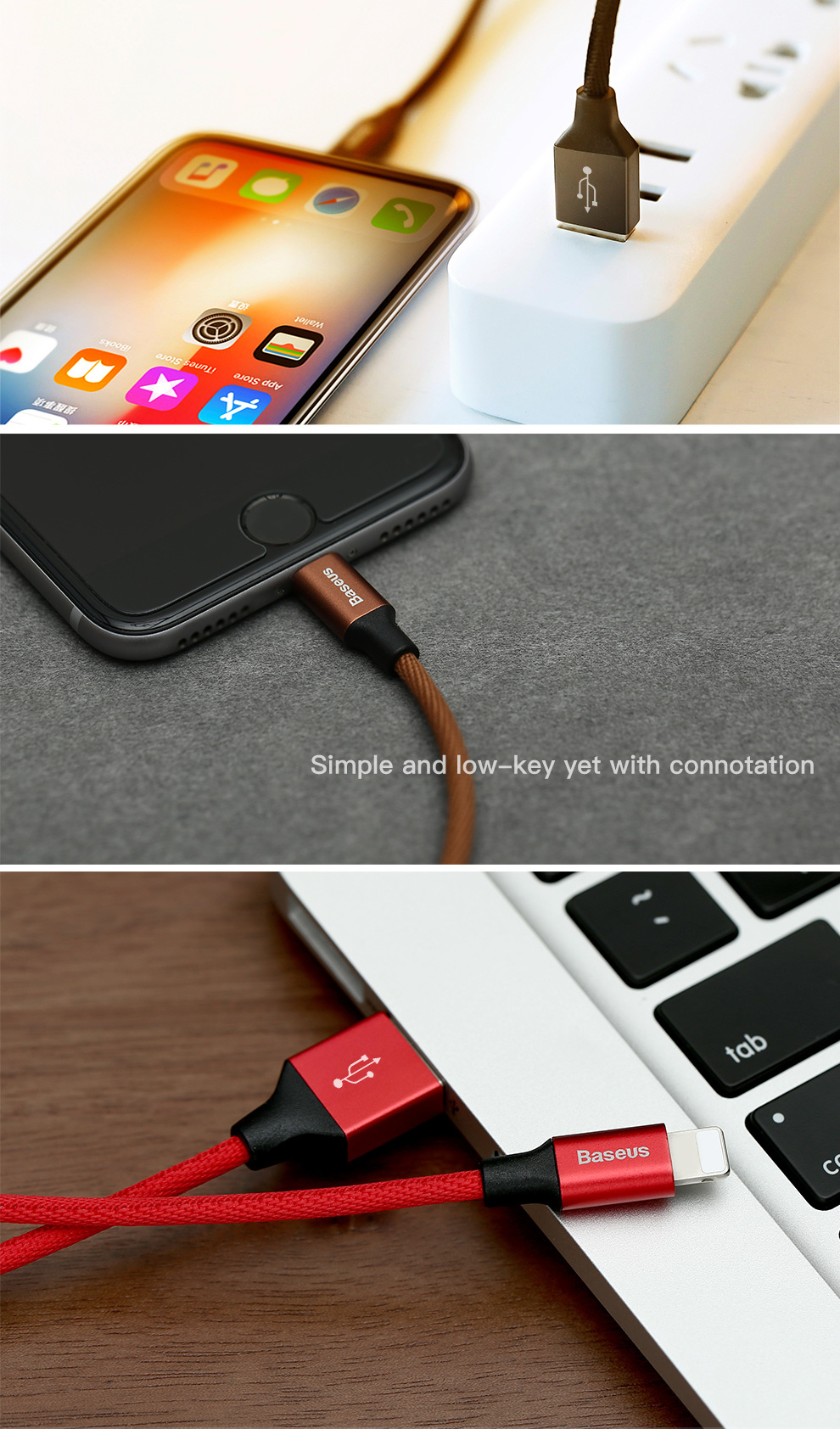 Baseus USB Cable For iPhone Xs Max Xr X 11 8 7 6 6s 5s iPad Fast Charging Charger Mobile Phone Cable For iPhone Wire Cord 3m 5m 20