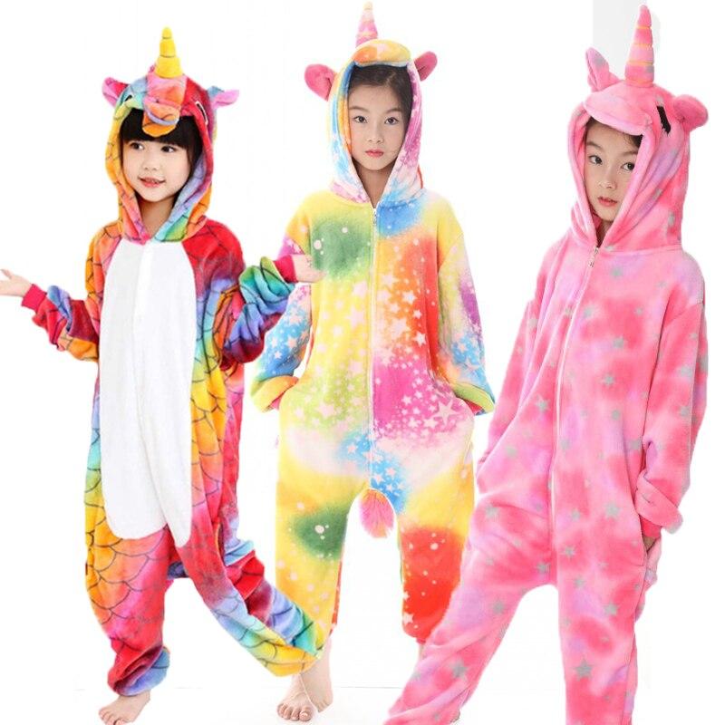 Ehrgeizig Winter Kinder Kigurumi Flanell Tier Pyjamas Für Mädchen Jungen Rosa Einhorn Kinder Pegasus Pyjamas Body Nachtwäsche Pijamas 4y-12y Um Eine Reibungslose üBertragung Zu GewäHrleisten