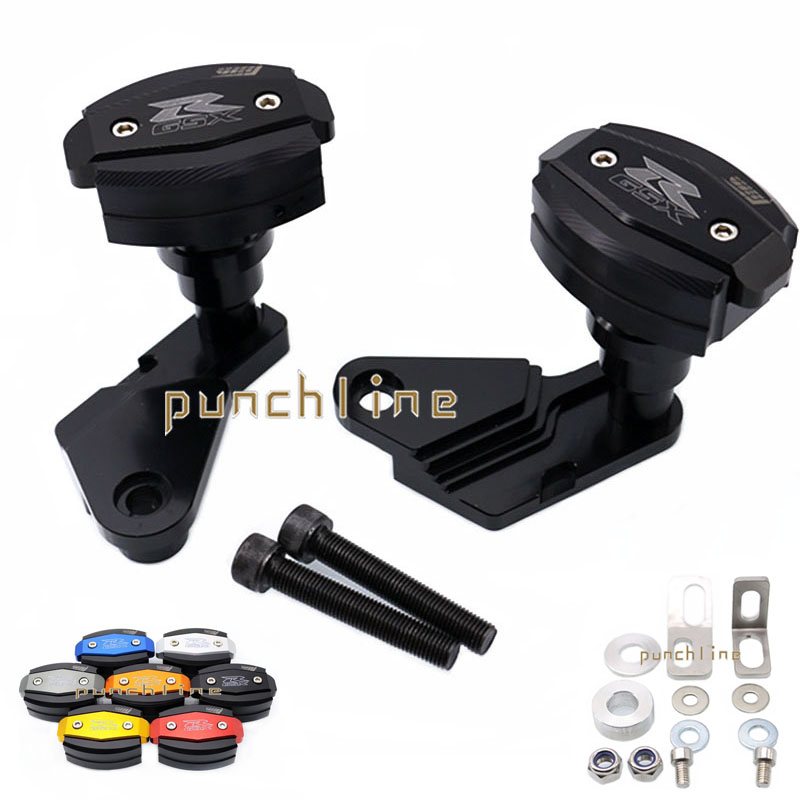 For SUZUKI GSX-R1000 2009-2011 2010 Motorcycle Body Frame Sliders Crash Protector Falling Protection Black