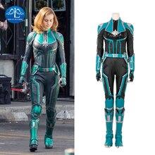 Captain Marvel Cosplay Costume Women Carol Danvers Costume Halloween Ms. Marvel Cosplay Costume For Adult Full Set Custom Made цена 2017