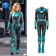 Manluyunxiao Captain Marvel Cosplay Halloween Costume For Women Adult Jumpsuit Superhero Carol Danvers Outfit Custom Made