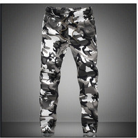 Pure Cotton 2016 Mens Boutique Autumn Pencil Harem Pants Men Camouflage Military Jogger Pants Comfortable Trousers
