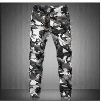 Pure Cotton 2016 Mens Boutique Autumn Pencil Harem Pants Men Camouflage Military Jogger Pants Comfortable Trousers