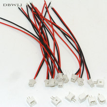 50 conjuntos mini micro ph2.0 ph 2 pinos conector plug com fios cabos 100mm 26awg fios cabos