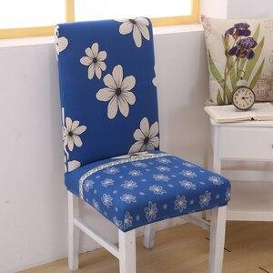 Image 5 - Blume Stuhl Decken Elastischen Sessel Schonbezug Möbel Esszimmer Kithcen Sitzbezug Für Hochzeit Büro
