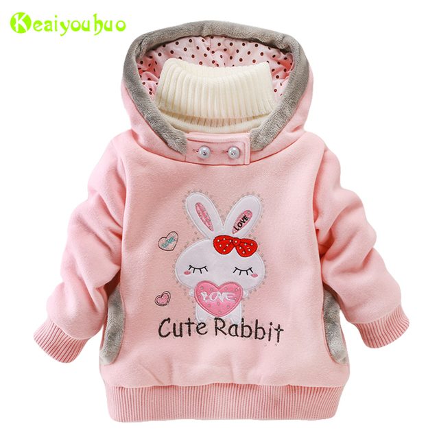 f899f4f2bec2 KEAIYOUHUO Infant Girl Coat 2017 Autumn Winter Jacket For Girls ...