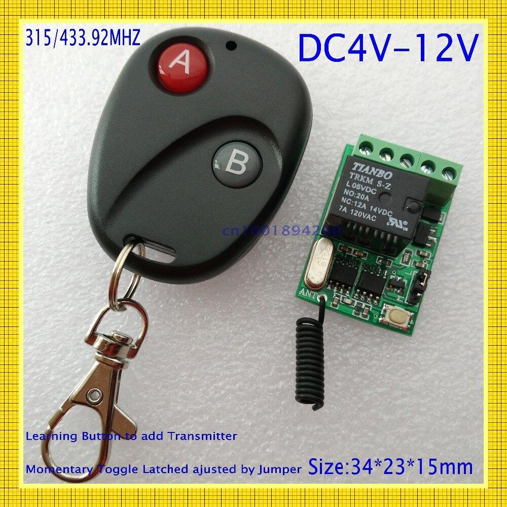 RF Relé Interruptor Remoto 4 V 4.2 V 5 V 6 V 7.4 V 9 V 12 V Mini el encendido y