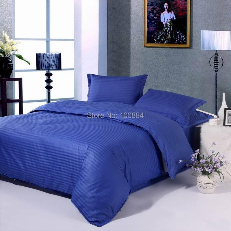 Bedding Imported From Abroad King Size Blue Fitted Bedclothes,100% Cotton Hotel Bedding Sets,18 Colors,flat/fitted Bed Sheet Hotel Bedspreads Factories And Mines