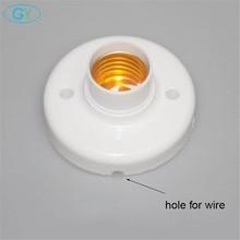 Пластиковое основание E27 с отверстием для провода, D8cm винтовой светильник патрон лампы, белый Цоколь E27 патрон лампы, светодиодный светильник патрон лампы