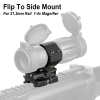 PPT Flip To Side Mount for 3x/4x Magnifier Rifel Scope Quick Flip Scope Fits 21.2mm Rail Weaver Mount gs24 0003