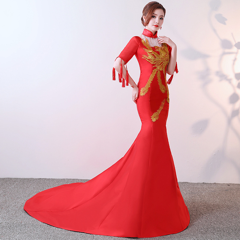 Soirée De Partie red Red 7 4 red Chinois Mariage Robe red Rouge Qipao Rétro 1 Sexy 5 Vêtements red Lady red 12 Mince Mode 11 red red 2 red Cheongsam 6 10 Longue red 9 red 3 Style 8 red q5ExAd