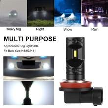 2 Stuks Auto Led Mistlamp Auto Led Koplampen Csp Super Heldere 50W Mistlamp Running Gloeilamp Draaien parking Lamp 12V