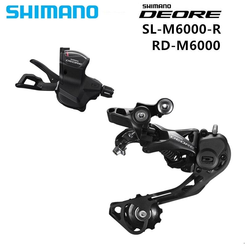 Groupe vélo Shimano DEORE M6000 vtt 10 vitesses levier de vitesse SL M6000 + dérailleur arrière RD M6000