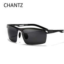 High quality driving sunglasses men polarized sun glasses with aluminium magnesium alloy frame shades metal spring hinge lunette