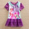 Neat menina retail roupa do bebê vestidos da menina de verão 2016 meu little pony bonito roupas crianças rendas vestido tutu roupa dos miúdos LU3