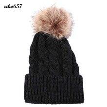 Недавно Женская Мода Hat Echo657 Горячие Продажа Повседневная Мода Женщины мода Согреться Зимние Шапки Вязаные Шерстяные Хемминг Hat Декабря 8