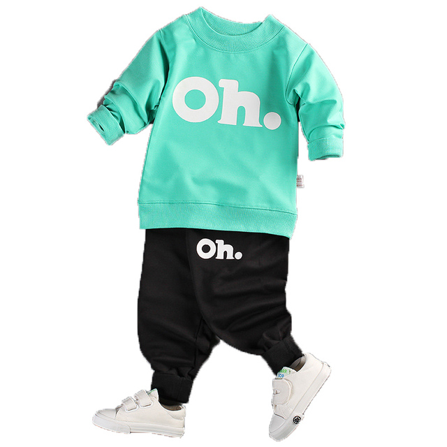 KEAIYOUHUO 2017 Baby Boys And Girls Clothes Set Long Sleeve Sport Suit For Boys Children Clothing Cotton Costume For Kids Suits
