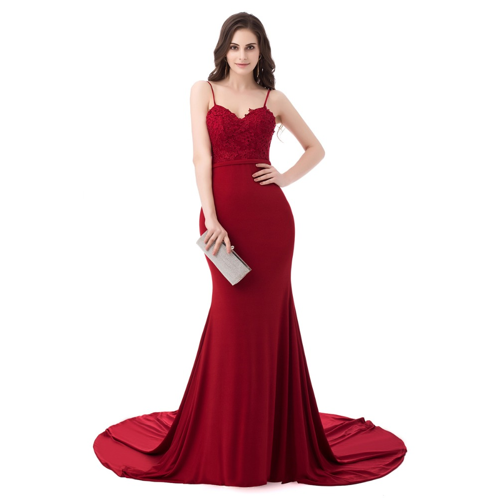 Aliexpress.com : Buy Real Picture Sexy Burgundy Evening ...