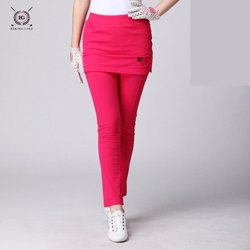 BG Golf Abbigliamento Pantaloni Delle Signore Pantaloni di Stirata Pannello Esterno Femminile di Golf delle Donne Falso in Due Pezzi Pantaloni Slim Con Due colore