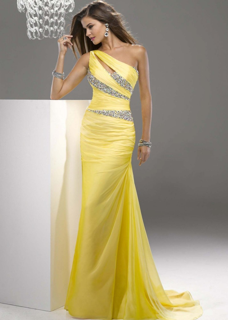 Popular Prom Dress Yellow-Buy Cheap Prom Dress Yellow lots from ...
