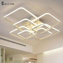 Square Rings Modern Led Ceiling Light For Living Room Bedroom AC90-265V White Plafonnier LED Ceiling Lamp luminarias para teto