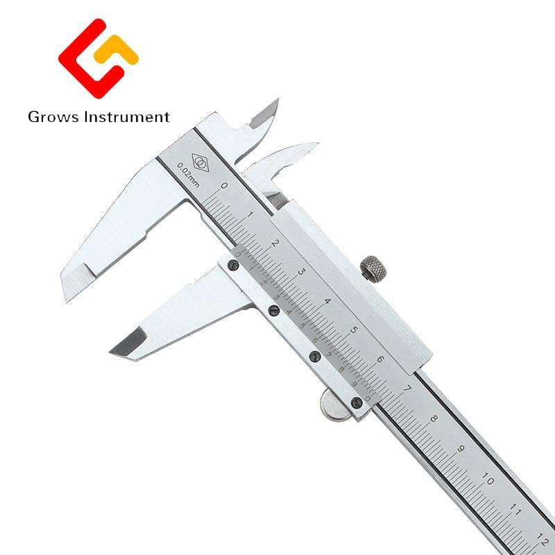 Pince unidirectionnelle 0-600mm curseur étrier carte de marquage d'huile échelle en acier inoxydable pied à coulisse