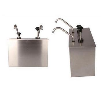 2 Bucket Sauce Dispenser Pump Squeeze Condiment Dispensing Stainless Steel