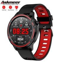 Askmeer L8 Smart Watch Reloj Inteligente Hombre Smartwatch IP68 Waterproof Sport Fitness Tracker Band ECG Heart Rate Bracelet