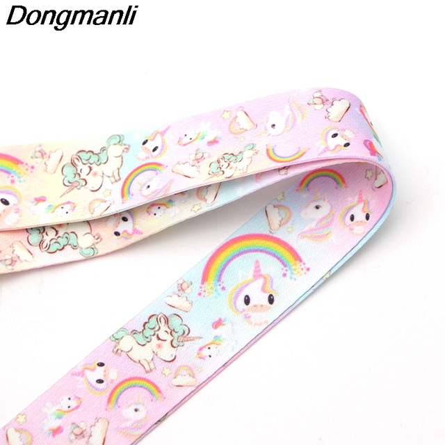 P1925 Dongmanli horse keychain Tags Strap Neck Lanyards for keys ID Card Pass Gym Mobile Phone USB badge holder DIY Hang Rope